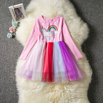 Fancy Kids Unicorn Tulle Dress for Girls Flower Girl Princess Dresses Party Costumes Unicorn