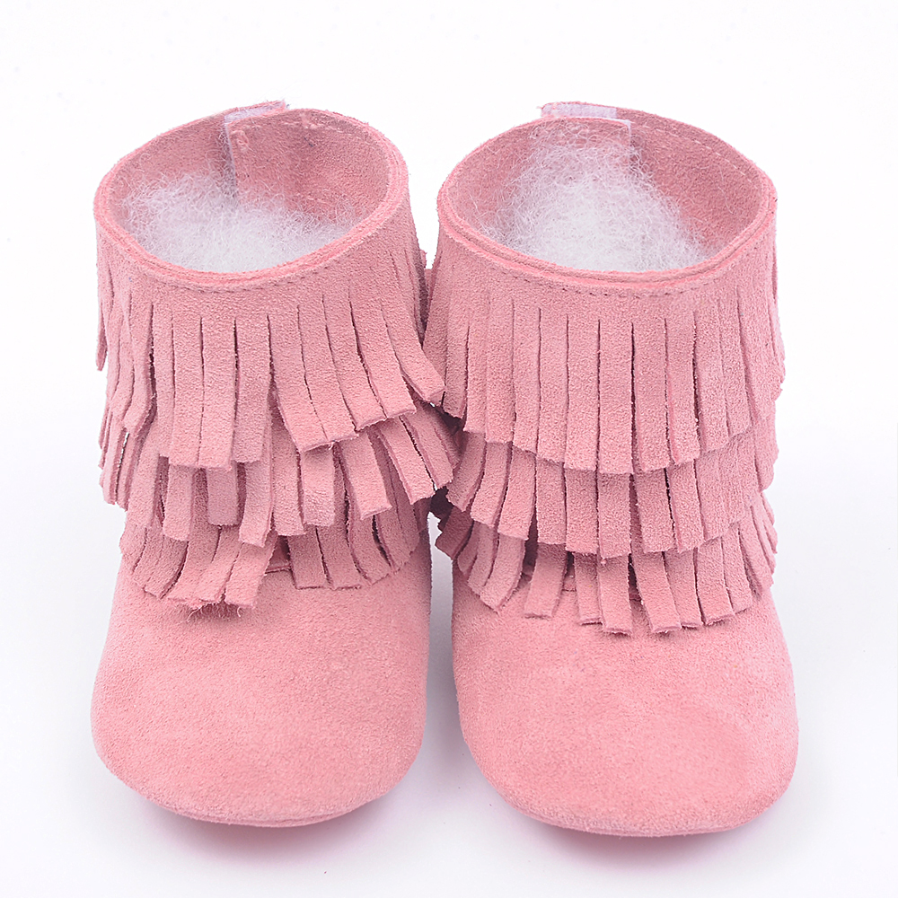 100 Genuine Leather Toddler baby moccasins Suede tassel baby shoes girls and boy First Walkers Infant