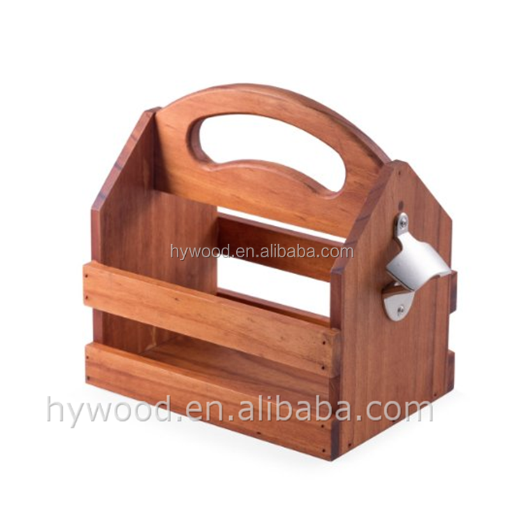 arch shape holder 6 bottle packing wood beer caddy