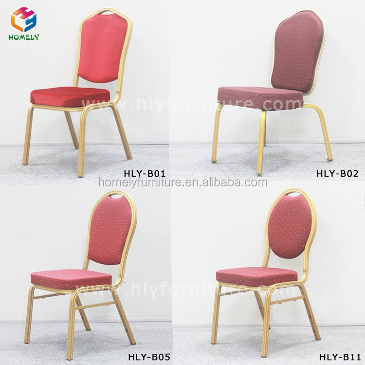 wholesale hot sell padded stackable chairs