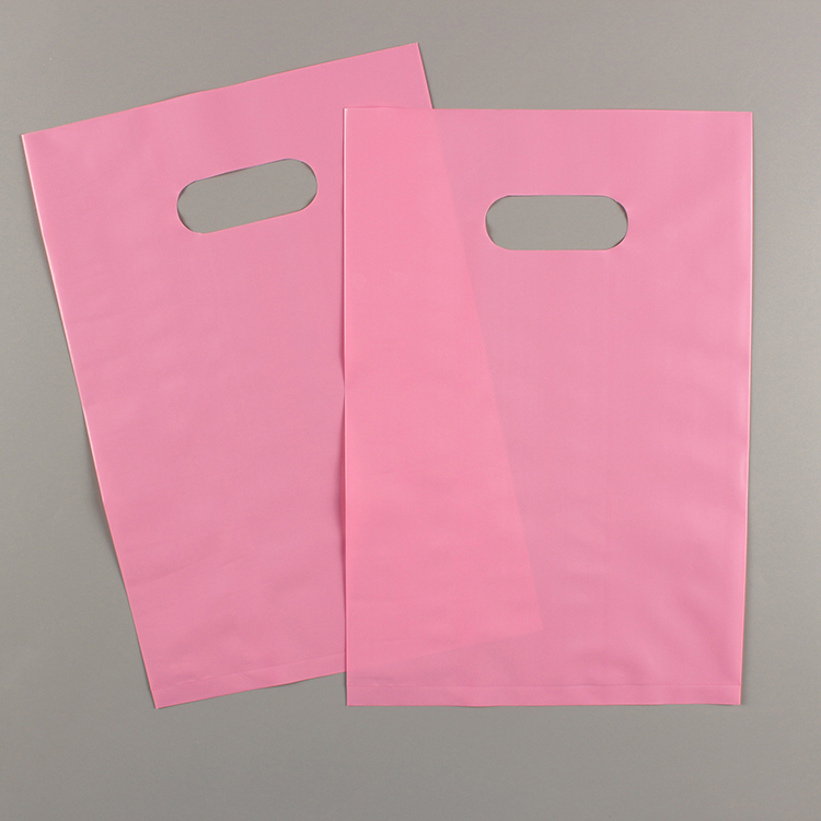 Reusable Crint Die Cut Handle Carry Plastic Color Packaging Shopping Bags With Logo