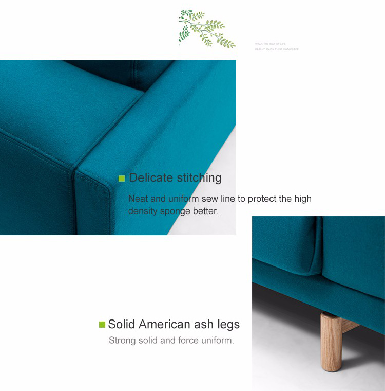 Colorful Fabric Latest Design Sofa For Hotel Three Seater Apartment Furniture