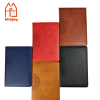 Retro Design Pu Leather Cover Notepad Notebook For School