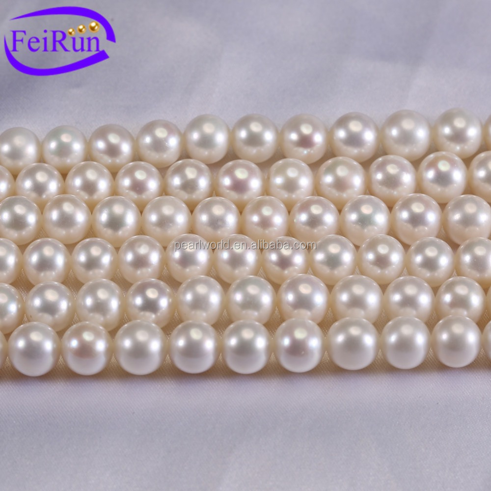 FEIRUN 8mm round AAA- fine quality wholesale pearl bead strands, pearl g string, decoration pearl strands
