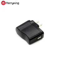 Portable plug in connection 5V 1A US plug USB power adapter with UL cUL FCC