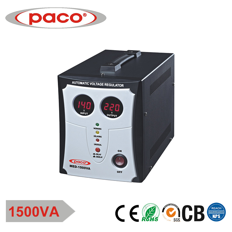 PACO voltage regulator 1.5kva/1500w avr voltage stabilizer with fuse circuit protection