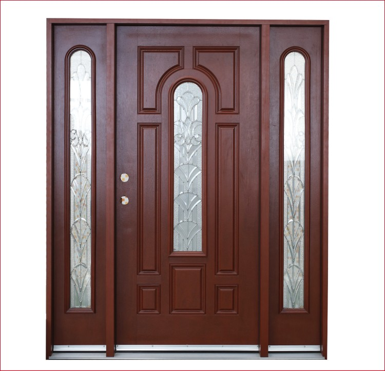 Frp Grp Smc Woodgrain Texture Door Skin-double 8panels Front Door Designs Fiberglass Door - Buy ...