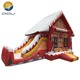 christmas inflatable bouncer castle bouncy house for kids red color for topic amusement