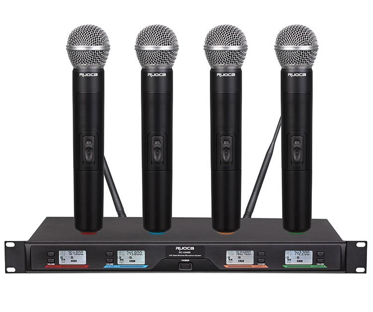 Hot Sale Kerah Portabel Profesional Sistem Mikrofon Nirkabel