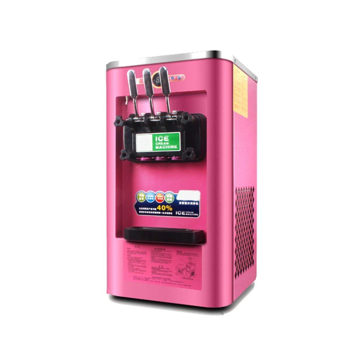 220V Commercial Soft Ice Cream Machine Frozen Yogurt Mix 3 Flavor 13-16L/H