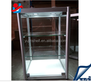 customized titanium high-end small glass jewelry display cabinet for jewelry fair