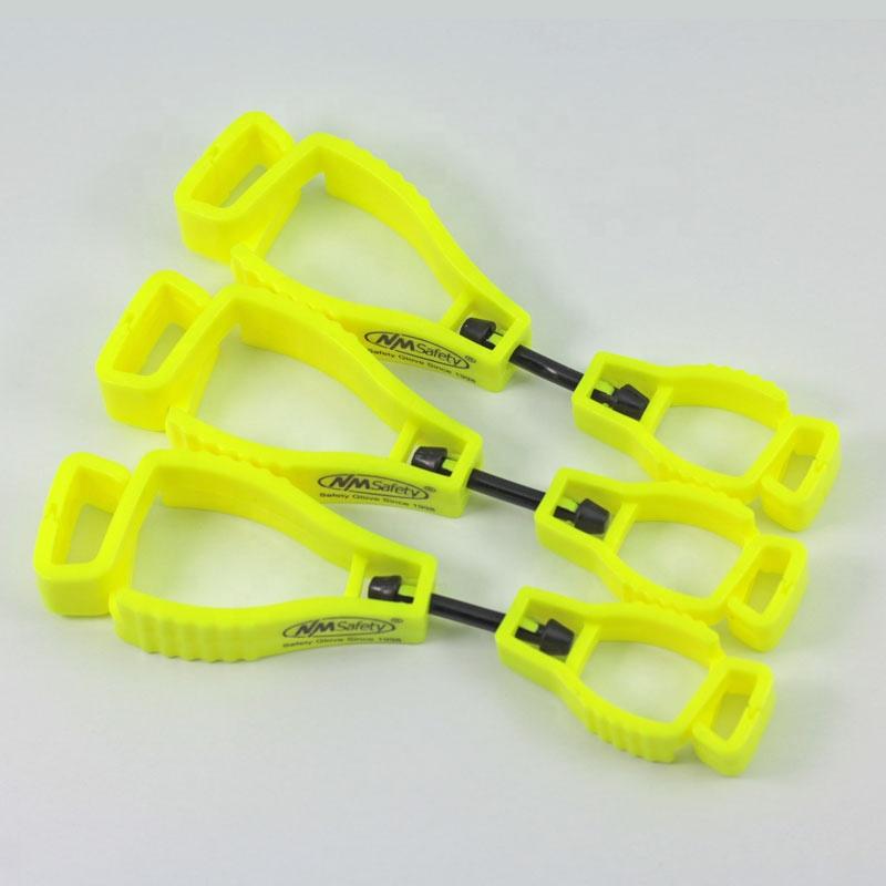 NMSAFETY ความปลอดภัยผลิตภัณฑ์ POM ถุงมือผู้ถือคลิปถุงมือพลาสติกคลิป