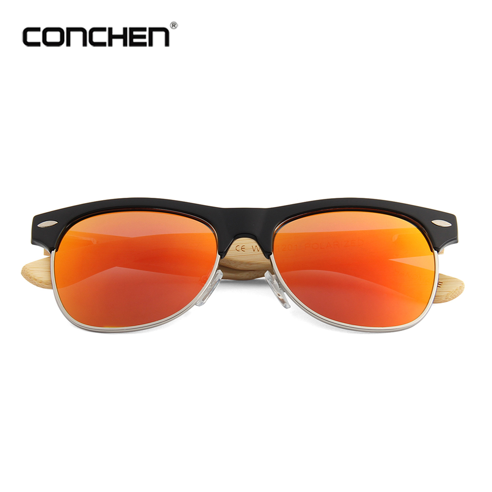 2018 new years conchen wood bamboo polarized sunglasses for adults