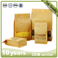 Gravure Printing Surface Handling and Heat Seal Sealing & Handle kraft paper bag for packing 50kg cement bag