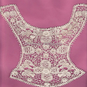 Cotton Embroidered Lace Collar Crochet Bolero Patternlace Patch