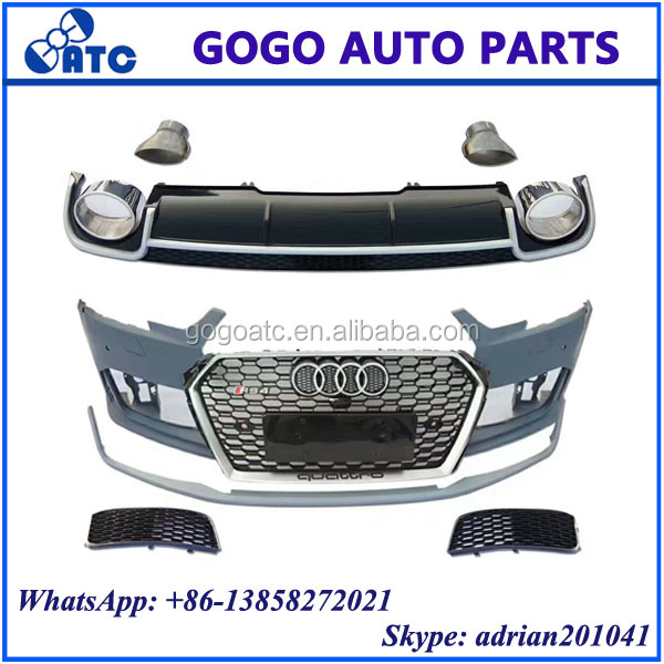 FOR AUDI RS4 2017 BODY KITS, RS4 GRILLE, RS4 REAR DIFFUSER