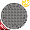 High performance industry iron sewer drain cover