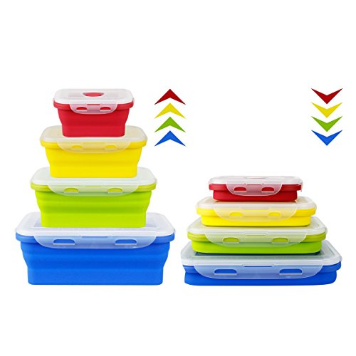 Microwavable Collapsible Lunch box Food Storage Container Set