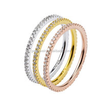 PES Fashion Jewelry! Endless Eternity 3-Row Unisex Stackable Ring (PES6-1402)