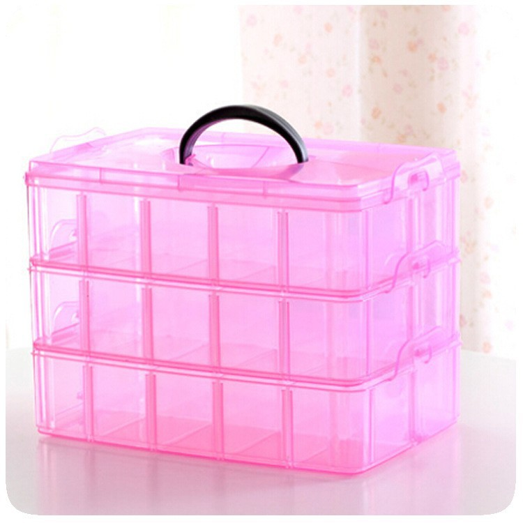 J462 Wholesale Plastic Containers Jewelry box Loom Bands Storage Nail Box 24 Compartments