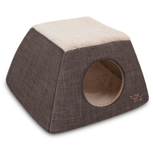 Wholesale Custom Grey Cheap Foldable Home Goods Cat Dog Bed Cave For Dogs Cats