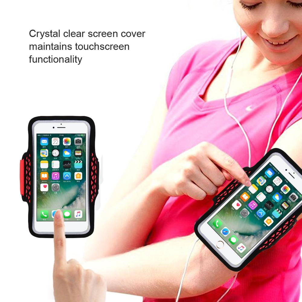 HAISSKY High Quality Customized Waterproof Touch Sensitive Lycra Running Mobile Sports Armband