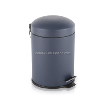 Elegant Design White Metal Bathroom Trash Bin With Removable Inner Bucket