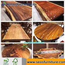 Economic and Efficient Good Quality Antique Acacia Slab Bar Top 100% Solid Wood Table for wholesale