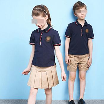 Navy blue polo shirt and shorts and skirt school uniform for Polo shirt uniform design