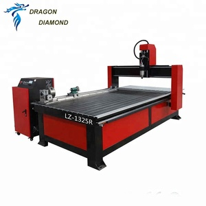 Hot Sale 4 Axis 1325 3d Wood Carving Cnc Router Machine With 3 Rotary