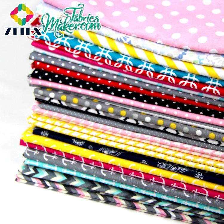 Alta qualidade zttex floral 100% algodão estofando tecido