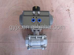 2 Pc Pneumatic Actuator Ball Valve/3 Pc Stainless Steel Pneumatic ...