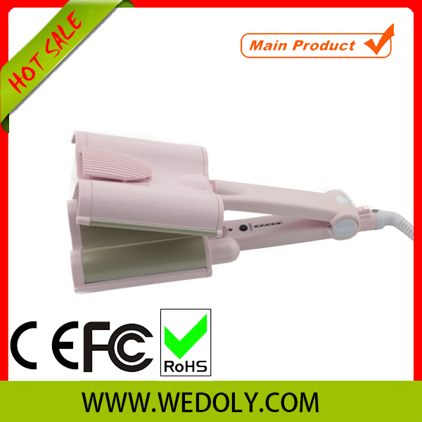 Factory Discount high quality LED light Curling iron pink stove