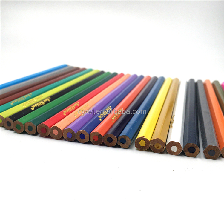 Set of 24 Colour Pencils Colorful Drawing Stationary Wood Art Tool