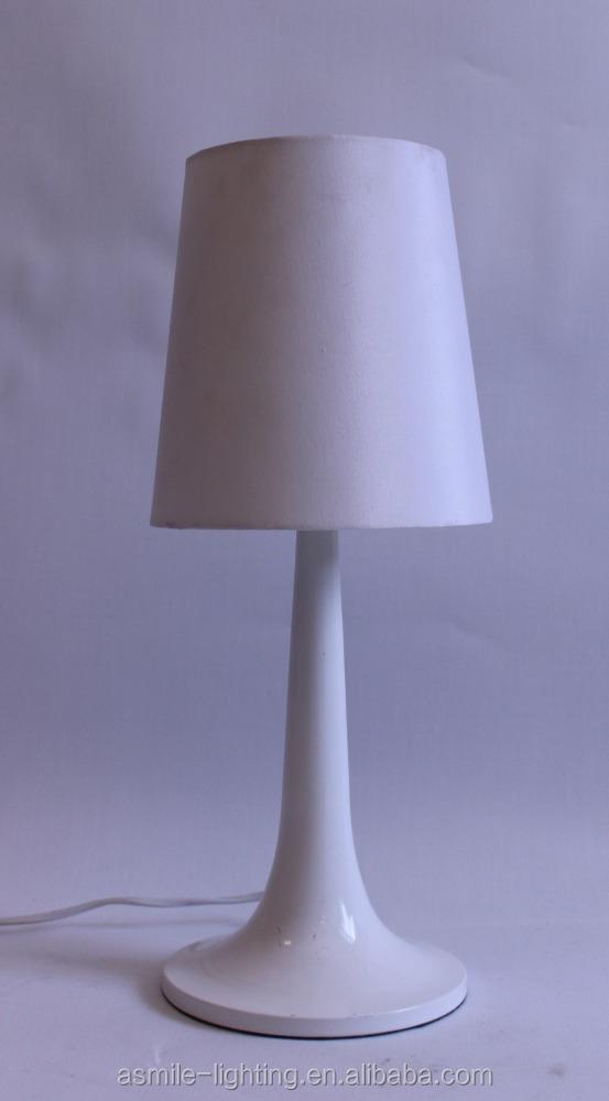 Elegant White/black Metal Table Lamp,Incandescent Light Source,On ...