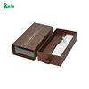 With Drawer Luxury Packaging Cheap Leather Paper Custom Logo Black Display Single Cufflink Box