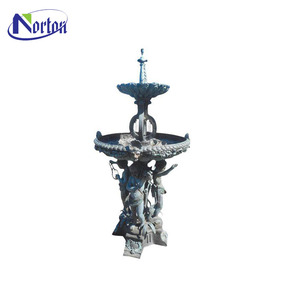 Hot sale antique design three boy large bronze water fountain for outdoor decoration NTBFO-189Y