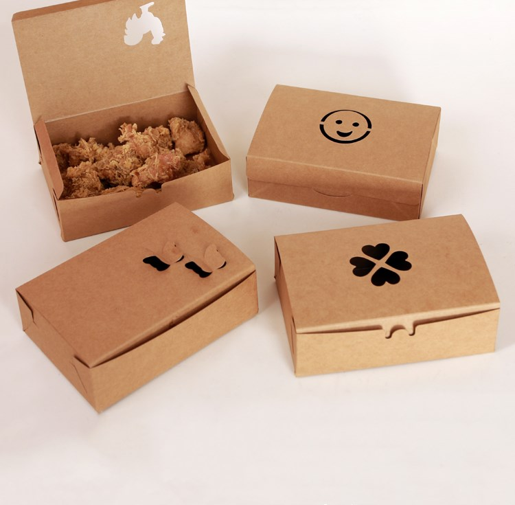 Smiling face paper fried chicken box fast food packaging
