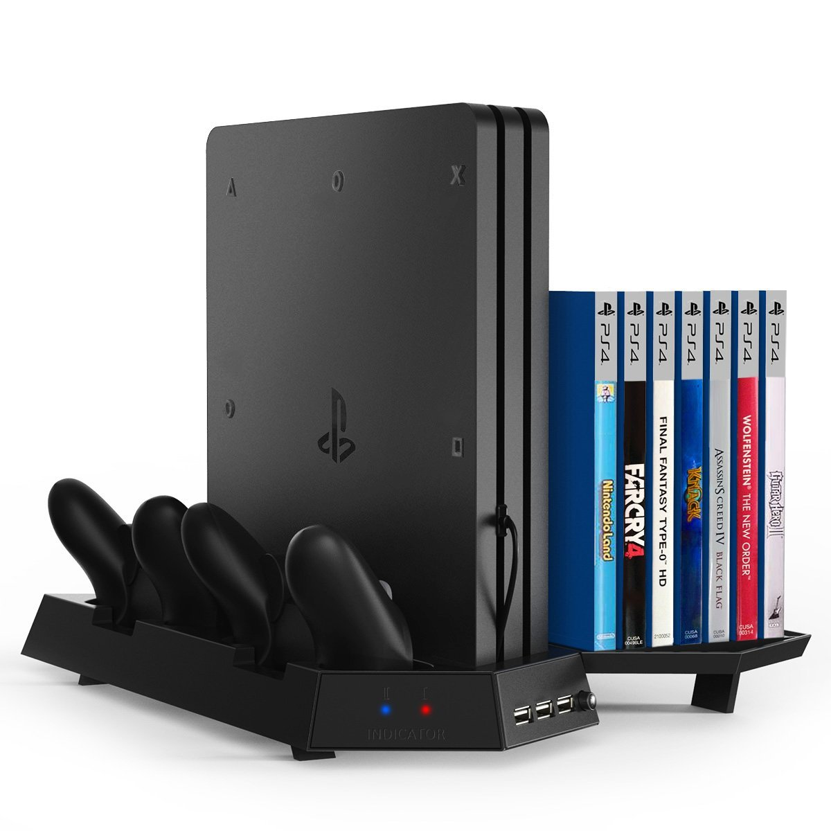 Multi Functional Vertical Stand Cooling Fan Cooler For Ps4 Pro