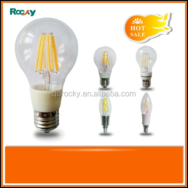 2016 new products dimmable A55 A60 G45 C35 E14 E27 2W 4W 6W 8W LED filament bulb