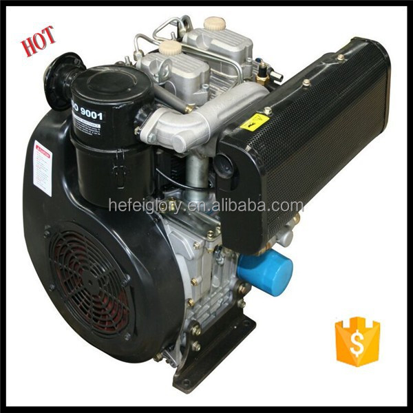 2015 Wholesale 18hp 2 Cylinder 4 Stroke Air Cooled Diesel Engine 290F