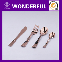 Hard plastic copper cutlery knife fork spoon