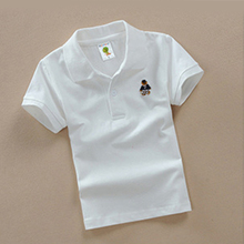 CC010103 High Quality 3-8 year children boy 100% Cotton polo t-shirt summer t shirts