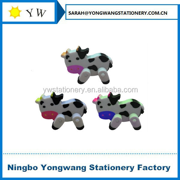 E122 cow shaped cute animal erasers