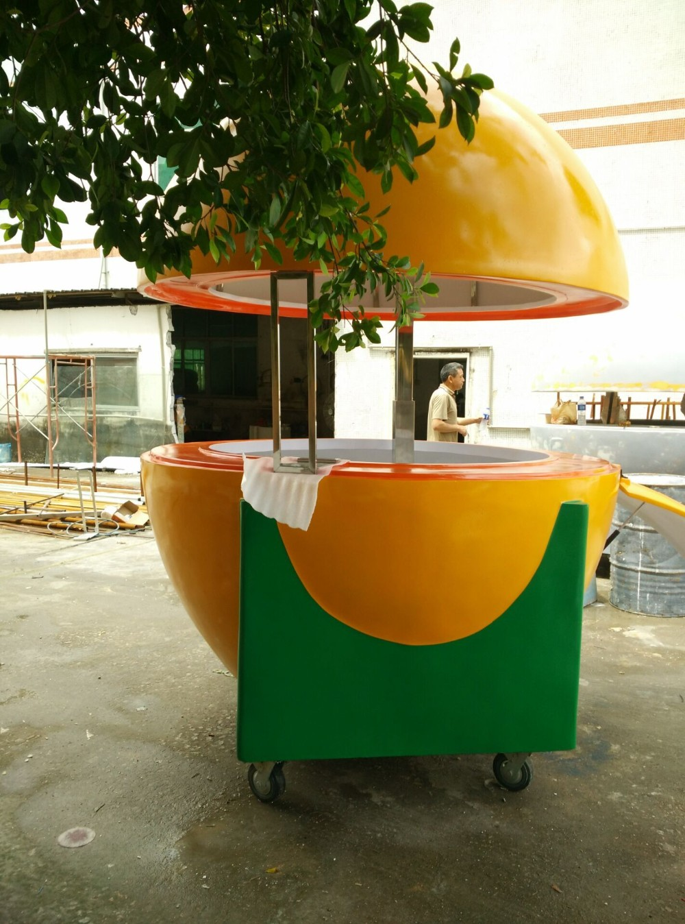 Mobile fruit kiosk new design food kiosk mobile kiosk - Remorque cuisine mobile ...