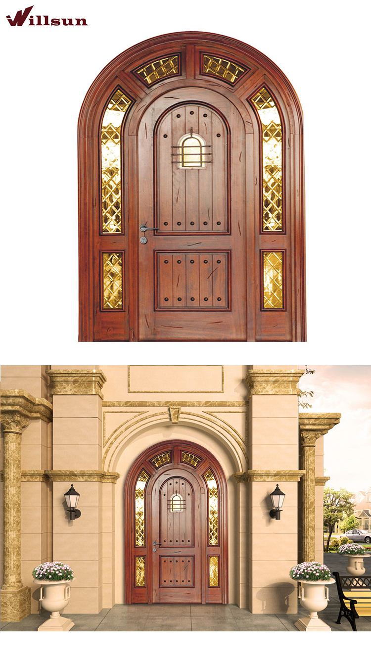 front entry double door common arched 72