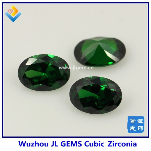Green/Emerald Oval Synthetic Cubic Zirconia Loose Gems