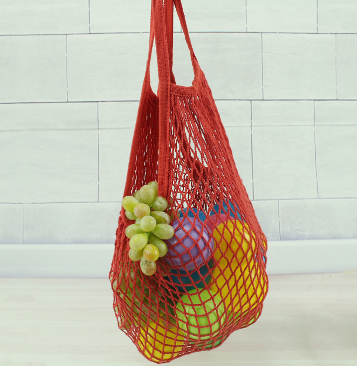 Reusable String Shopping Bag Cotton Mesh Grocery Bag Mesh Woven Net Shopping Bag