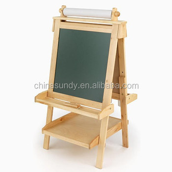 Double Sided Standing Drawing Board For Kids Wooden Writing