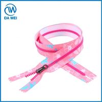 Most popular high quality customized plastic zipper close end new design
